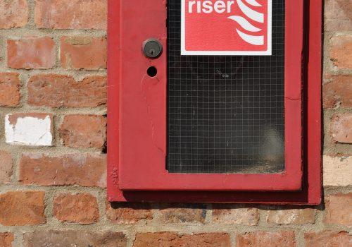 dry riser install