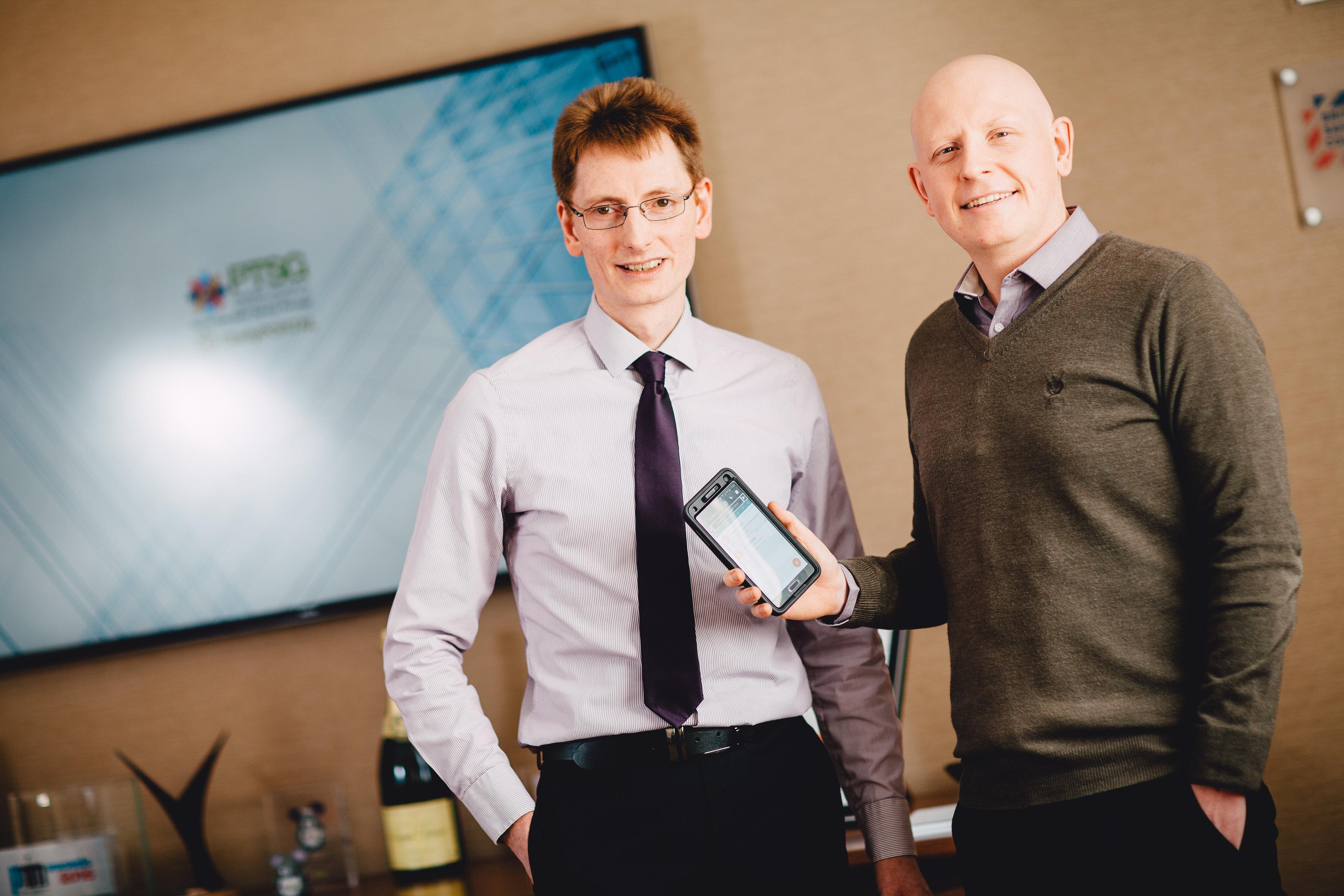 PTSG's software development team, Chris Cook and Simon Wainwright