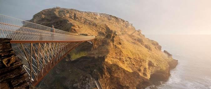 Spectacular Tintagel Bridge, protected by PTSG, now open