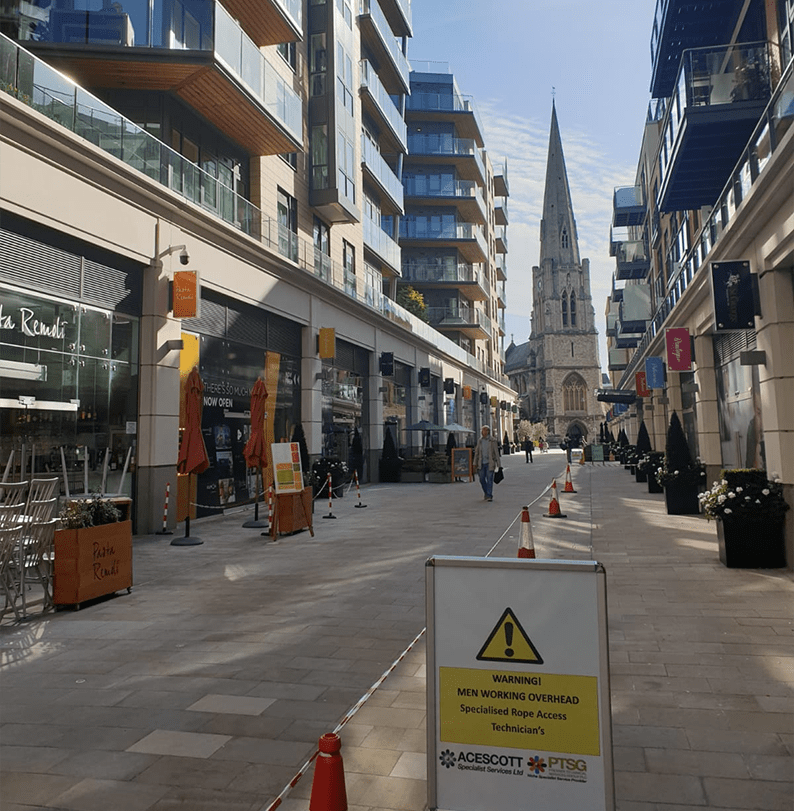 PTSG completes full year of specialist services at Dickens Yard